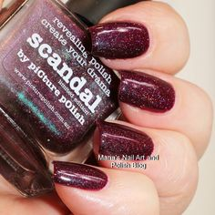 The gorgeous @picturepolish Scandal is on my blog today just follow the blog link in my bio to see more photos of it and read the entire review. You also find swatches of hundreds of other indies. To see all my swatches of this brand here on IG click this hashtag: #picturepolishonmariasnailartandpolishblog #nailstagram #nails #instanails #nailpolish #manicure #swatches #ournailworld #naturalnails #notd #npa #nailporn #nailblogger #nagellack #neglelak #vernis #varnish #lacquer #smalto…