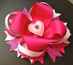 Valentines Day Bow - Curlz and Twirlz Boutique