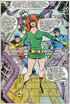 Image result for marvel girl jean 1960s