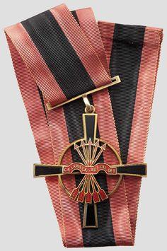 SPANIEN - Imperialer Orden vom Joch und den Pfeilen (Orden Imperial del Yugo y las Flechas) Komturkreuz  des 1943 mit Statuten versehenen höchsten spanischen Verdienstordens unter General Franco.