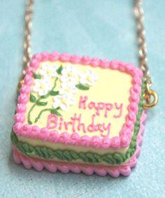 birthday cake necklace