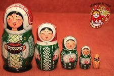 "View Item: Set of 5 matryoshka ""Chukchi family"". Nesting doll. Handmade in Russia. %МС-36б"