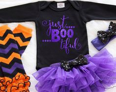 Personalized Halloween Outfit Baby First by ThreeHappyPandas