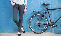Gray Bike to Work Skinny Jeans | Women's Commuter Pants | Betabrand