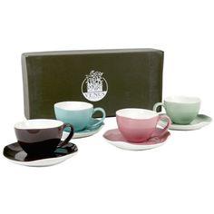 Coffret 4 tasses à café   http://www.cotedeco.com/cuisine/petit-dejeuner/coffret-de-4-paires-tasses-a-cafe-1.html