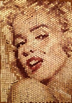 Get giddy over wine cork art. The possibilities stretch as far as your imagination! (Yes, that's Marilyn Monroe.) http://www.snooth.com/articles/wine-friday-fun/#!slide=2