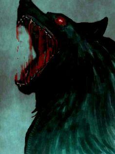 Pissed off wolf!! *LadySkull* (#583 painting)