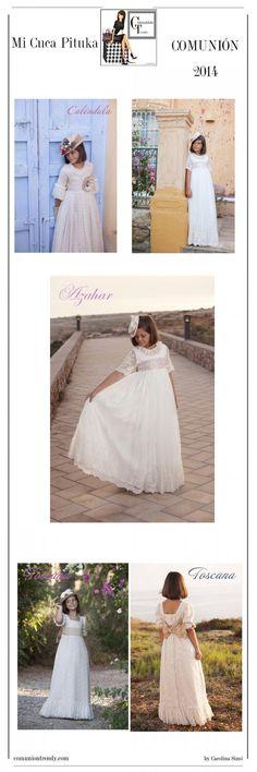 MI CUCA PITUCA tres vestidos de Comunión para soñar | COMUNIÓN TRENDY :: Mil ideas para organizar una Primera Comunión :: Vestidos de comunión, Recordatorios, Trajes de Comunión