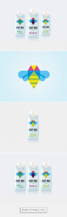 Just Bee Honey Water packaging design by B&B studio (UK) - http://www.packagingoftheworld.com/2016/06/just-bee.html