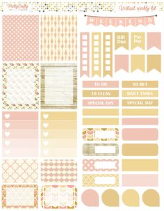 Shabby Chic weekly spread https://www.etsy.com/ie/shop/PrettyCraftyStickers?ref=hdr_shop_menu
