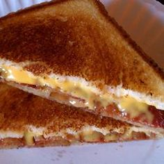 Elvis' Grilled Cheese Sandwich (Cheese, bacon, and peanut butter)    Allrecipes.com