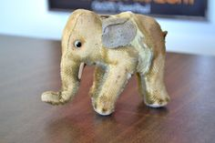 Early Steiff Elephant Kapok Stuffed with Wonderful Wear and Vintage Appeal on Etsy, $24.00