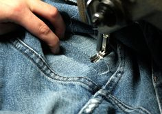 How to Fix Holes in Jeans Holey Jeans, Patched Jeans, My Jeans, Denim, How To Patch Jeans, Costume Patterns, Clothing Hacks, Useful Life Hacks, Sewing Hacks