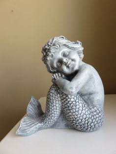 Mermaid Sitting Figurine Garden Figurines Mermaids Statues