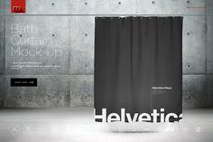 Bath Curtain Mock-up by mesmeriseme.pro on @creativemarket
