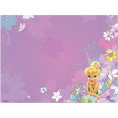 Tinkerbell Invitation Templates Free Download | Free Tinkerbell Backgrounds for Scrapbooks, Greeting Cards ...