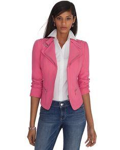 White House | Black Market The Pink Moto Jacket #whbm