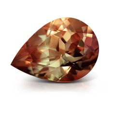 Zultanite Is a trade name for the gem form of diaspore. This shows brown and green color change. Minerals And Gemstones, Crystals Minerals, Rocks And Minerals, Stones And Crystals, Gem Stones, Beautiful Rocks, Rocks And Gems, Semi Precious Gemstones, Gemstone Colors