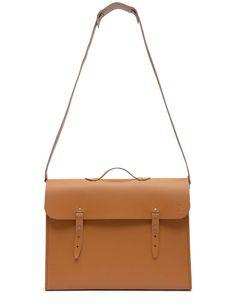 Sac workwearSacoche de métier en cuir façon facteur, made in France, La Trésorerie, 125 € ( 24 € pour la bandoulière).