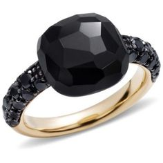 Pomellato Onyx Rose Gold Capri Ring