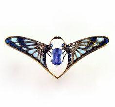 Falize | Sapphire Butterfly Art Nouveau Ring - 1910.