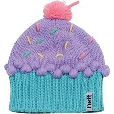 If you can stand to knit the bobbles, this would be a cute hat to knit  Neff Cupcake Women's Beanie Fashion Hat - Confetti