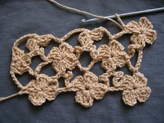 Flower scarf (crochet) DIY