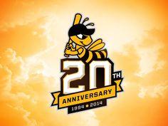 Salt Lake Bees 20th Anniversary Logo