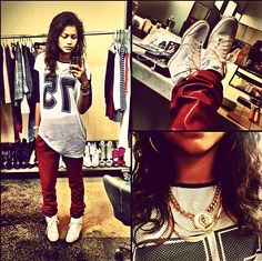- Zendaya Coleman's style is so pretty to me Tomboy Swag, Tomboy Outfits, Tomboy Fashion, Dope Fashion, Urban Fashion, Casual Outfits, Summer Outfits, Cute Outfits, Fashion Outfits
