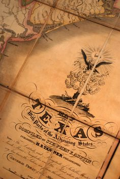 This map of Texas and the adjoining states belonged to Stephen F. Austin.