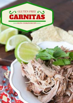 "Gluten-Free Slow Cooker Carnitas- my kids declared these, ""Better than Chipotle!"""