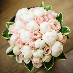 peonies and blush roses