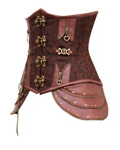 5f4926f957 CD-466 - Brown Brocade Underbust with Buckle Fastening