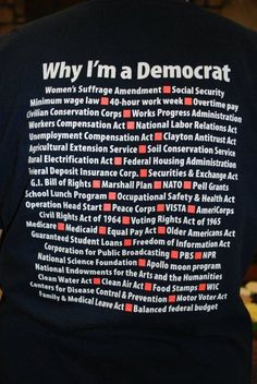 Democrats built that. All that. AND often with support from Republicans.