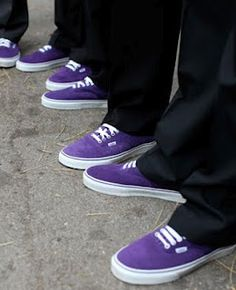 purple groomsmen shoes. that's just adorable.