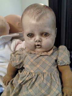 Devil Doll with pasty skin.