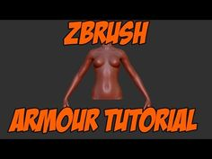 How to create armor completely in ZBrush - hi & low-poly version - YouTube