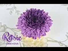 Chrysanthemum Buttercream Cupcake Tutorial - YouTube