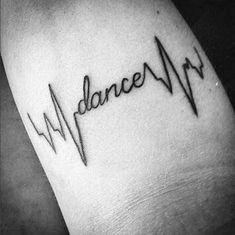 32 Ideas Dancing Tattoo Meaningful For 2019 Dance Quote Tattoos, Ballet Tattoos, Ballerina Tattoo, Bff Tattoos, Mini Tattoos, Future Tattoos, Love Tattoos, Body Art Tattoos, Small Tattoos