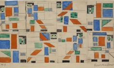 December 2010 The Centre Pompidou in Paris opened a large-scale exhibition on De Stijl and Piet Mondriaan. Sophie Taeuber Arp, Modern Architectural Styles, Theo Van Doesburg, Jean Arp, Social Aspects, Centre Pompidou, Concrete Forms, Stained Glass Designs, Exhibition Space