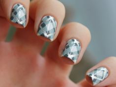Shades of Gray - 10 Plaid Nail Art Designs Perfect for PSL Selfies via Brit + Co.