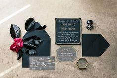 black wedding invitations | Wedding & Party Ideas | 100 Layer Cake