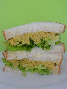 "Curried ""egg"" sandwiches #vegan"
