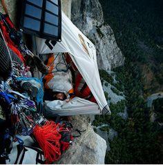 Adrenaline junkie camping...