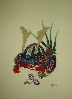 "Finished Today""Kabuto"" Boys´ Day (traditional japanese warrior helmet) Samurai Helmet, Warrior Helmet, Pictures To Paint, Cool Pictures, Warrior Paint, Boys Day, Helmet Paint, Japanese Warrior, Ink Wash"