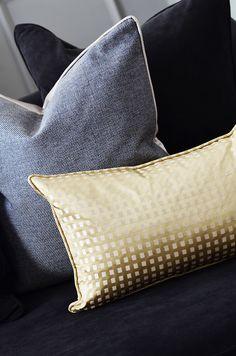 Decorative Cushions #Accessories #cushions #decoration #closeupshot #gold #grey #velvet