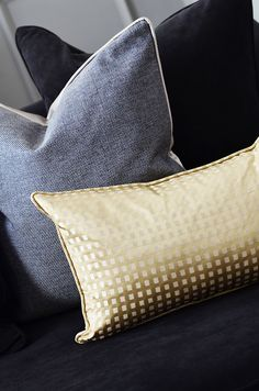 Decorative Cushions #Accessories #cushions #decoration #closeupshot #gold #grey…