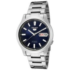 New Seiko Men SNK793k Seiko 5 Automatic Blue Dial Stainless Steel Day Date Watch