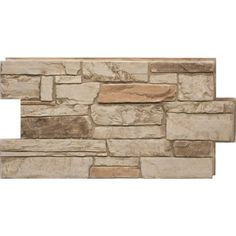 Urestone Ledgestone Desert Tan 24 in. x 48 in. Stone Veneer Panel at The Home Depot - Mobile Stone Siding Panels, Faux Stone Siding, Stone Veneer Panels, Faux Stone Veneer, Stacked Stone Panels, Faux Stone Panels, Faux Panels, Faux Stone Sheets, Amstaff Terrier