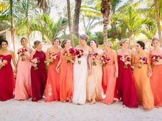 Wedding colors beach coral Ideas for 2019 Stunning Wedding Dresses, Princess Wedding Dresses, Wedding Dress Styles, Wedding Colors, Orange Bridesmaid Dresses, Beach Bridesmaid Dresses, Bridal Gowns, Wedding Gowns, Summer Wedding